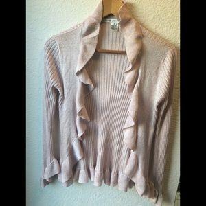 Diane Von Furstenberg pink sweater. Size M